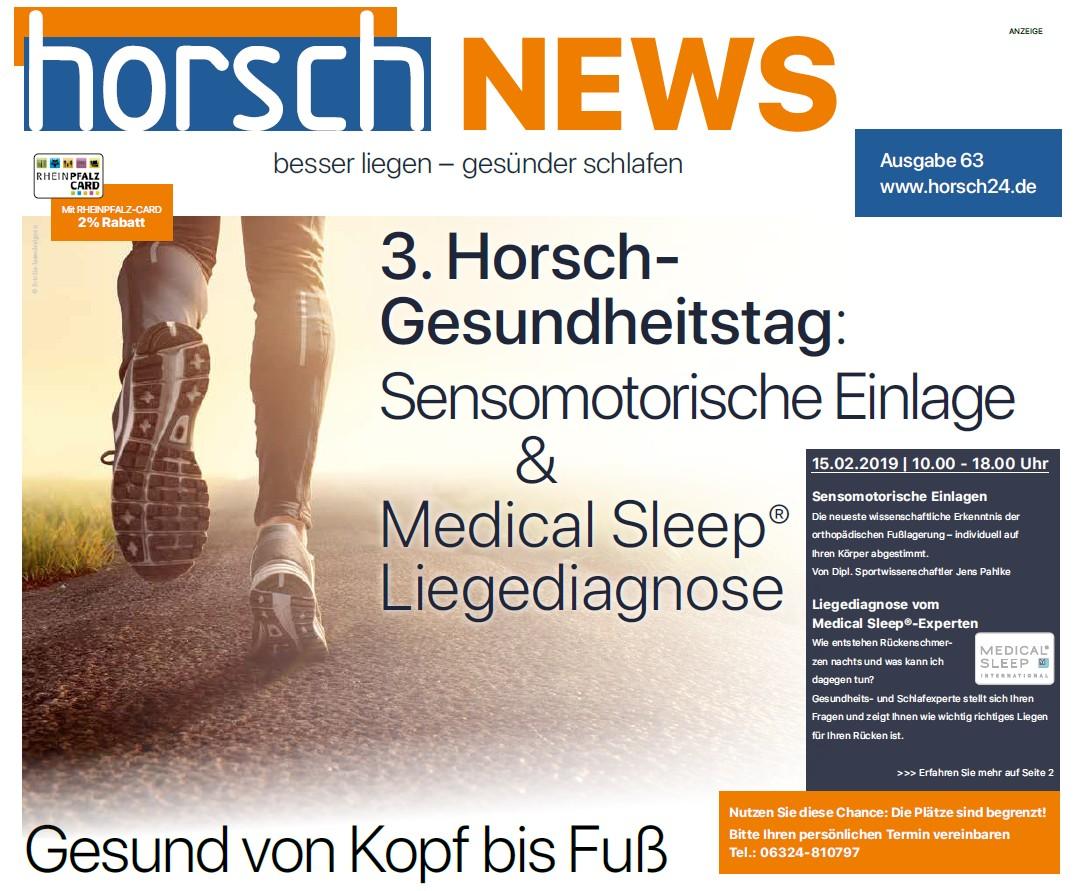 Horsch-News 3. Gesundheitstag 2019 Titel
