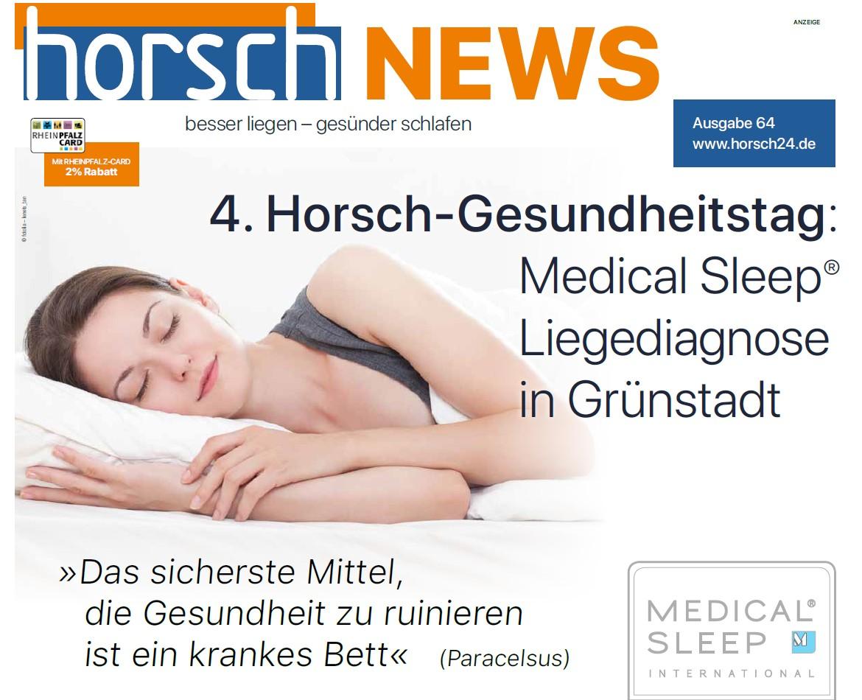 Horsch News 4. Gesundheitstag 2019 Titel
