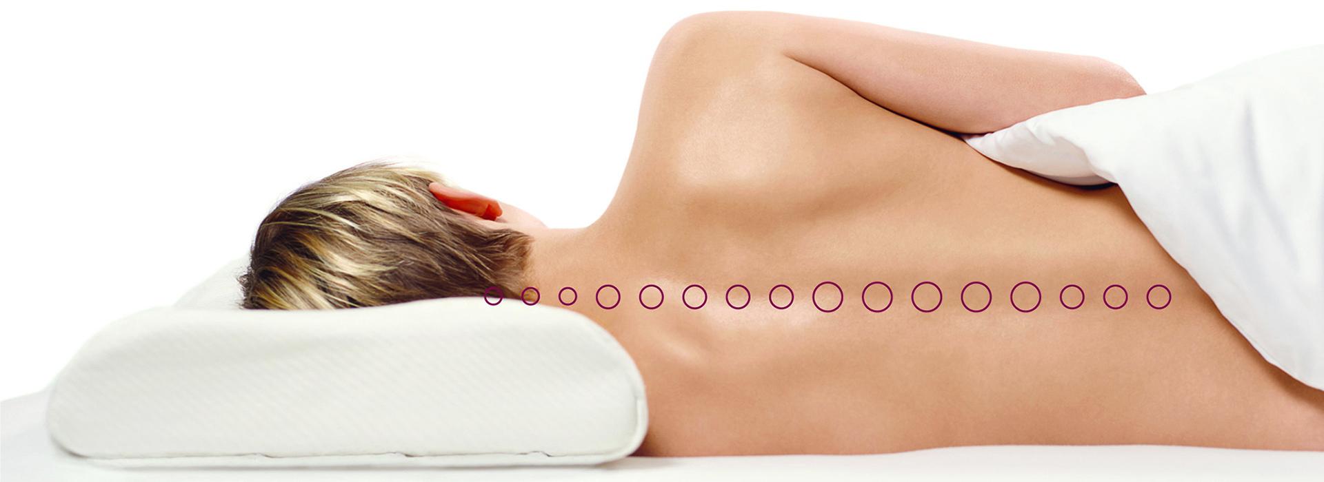 Das Kissen – ergonomische Lagerung des Kopfes gegen Verspannungen und für besseren Schlaf